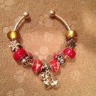 CELEBRATE IT! Snowman & snowflakes euro beads bracelet