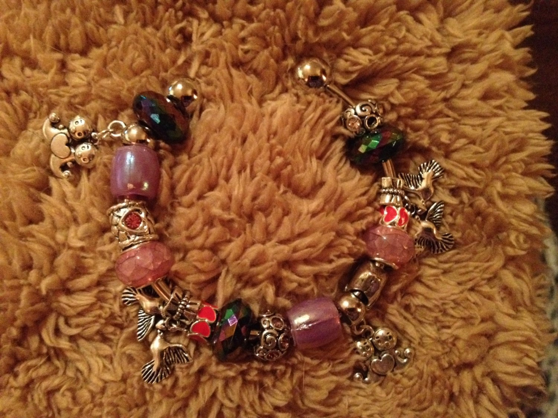 My purple valentine euro bracelet