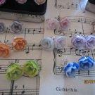 Flower polymer clay earrings - BMGM!