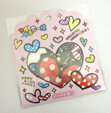 Q-lia Hearts Sticker Sack, kawaii