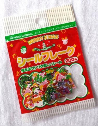 Kamio Vintage Christmas Animal Sticker Sack