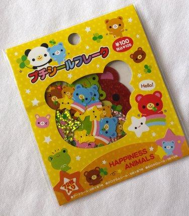Kamio Happiness Animals Sticker Sack, kawaii