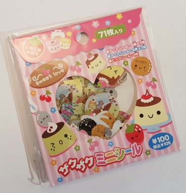 Dix Flan Pudding Sticker Sack, kawaii