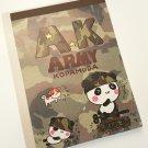 Q-Lia Army Kopamuda Panda Camouflage Memo Pad, rare kawaii