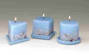 Seashell Design Candles