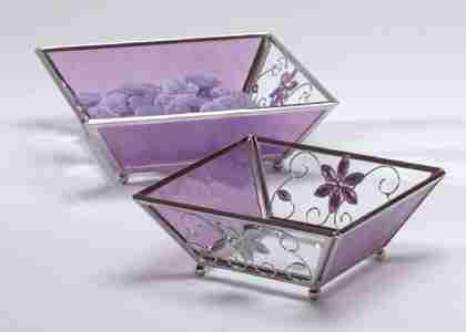 Purple Glass Candle Plate