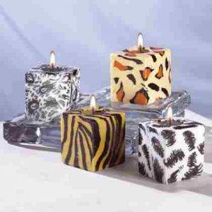 4-Piece Safari Cube Candle