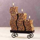 Snakeskin S-Shaped Candle Set