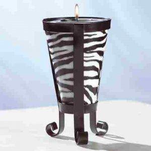 Zebra Stripe Cone-Shaped Candle