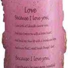 Sculpted Rose Love Candle