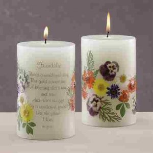 Scented Candle - Friendship with Dried Flowers