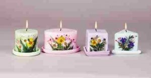 Candles with Dried Flowers