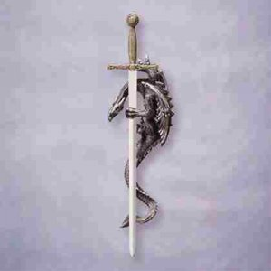 Sword and Dragon Wall Plaque