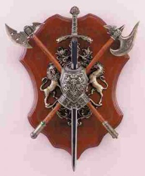 Sword, Axe and Shield Display