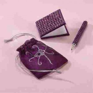 Beaded Pen and Notebook Set