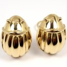 Rare Vintage 1993 Tiffany & Co Solid 18K Gold LARGE Scarab Clip On Stud Earrings