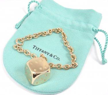 a1d4ed044e3e6 RARE Vintage Tiffany & Co 14K Gold 3-D Lucky Dice Charm Link ...