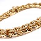 "RARE Vintage Tiffany & Co 14K Yellow Gold Charm Link Bracelet 7-3/4"""
