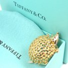 RARE Tiffany &Co Schlumberger 18K Yellow Gold Hedgehog with Ruby Eyes Pin Brooch