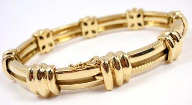 "Rare Vintage 1995 Tiffany & Co 18K Yellow Gold Atlas Link Bracelet 7"" 42g"