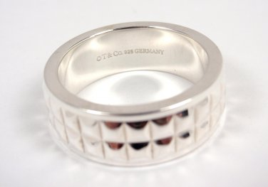 Rare Tiffany & Co Sterling Silver Moderne Ring Size 5.25 Germany