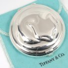 RARE Vintage Tiffany & Co Sterling Silver Sleeping Cat Powder Compact Mirror w/pouch