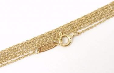 """Tiffany & Co 18K Yellow Gold Chain Necklace 30.5"""""""