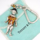 Tiffany & Co Gene Moore Sterling Silver Enamel Harlequin Keyring Keychain ITALY
