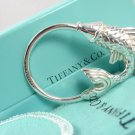 Mint! Rare Vintage Tiffany & Co Sterling Silver Fish Key Ring Keychain w/box