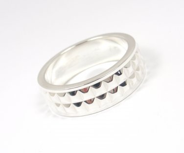 Rare Vintage Tiffany & Co Mens Sterling Silver Moderne Band Ring Size 12 Germany