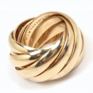$6K Tiffany & Co Picasso Melody 18K Rose Gold Wedding Rolling 9-Band Ring Size 6