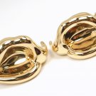 Rare Vintage Tiffany & Co Peretti 18K Yellow Gold Calla Lily Flower Clip Earrings