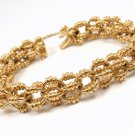 "RARE Vintage Tiffany & Co 18K Yellow Gold Circle Link Bracelet 7.5"" ITALY"