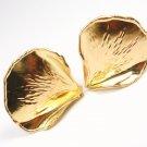 Vintage Tiffany & Co Angela Cummings 18K Gold Rose Petal Earrings w/box
