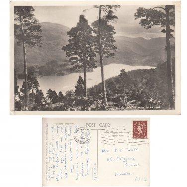 Cumbria. Postcard Ullswater from Glencoin. Photograph Postally Used   . Mauritron #1