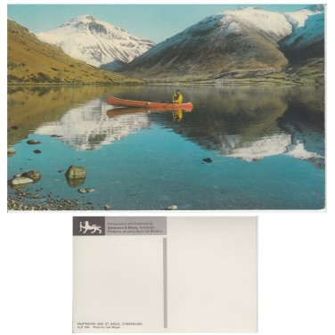 Cumbria. Postcard Cumbria Postcard Wastwater and Gt Gable by Tom Wright . Mauritron #4