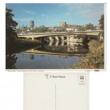 County Durham Postcard River Weir The Cathedral and Castle Durham Mauritron Item No. 27