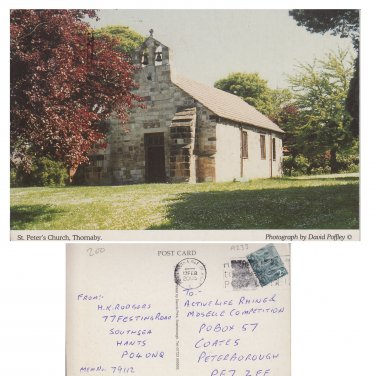 Cleveland Postcard St Peter's Church, Thornaby Mauritron Item No. 34