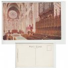 County Durham Postcard Durham Cathedral, Choir East. Side View Mauritron Item No. 45