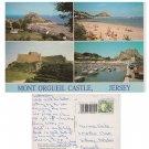 Jersey Postcard Mont Orgueil Castle Multiview Mauritron Item No. 66