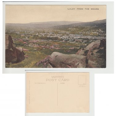 Yorkshire Postcard Ilkley from the moors Mauritron Item No. 76