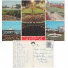 Sussex Postcard The Gardens of Eastbourne Multiview Mauritron Item No. 100
