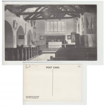 Cumbria Postcard Grasmere Church The Nave. Mauritron #112