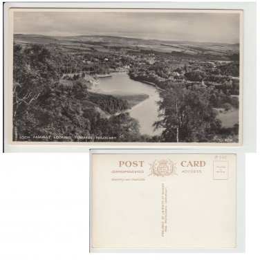 Highlands  Postcard Loch Faskally looking towards Pitlochry. Mauritron #146