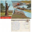 Northumberland Postcard Holy Island 4 Multiviews. Mauritron #150