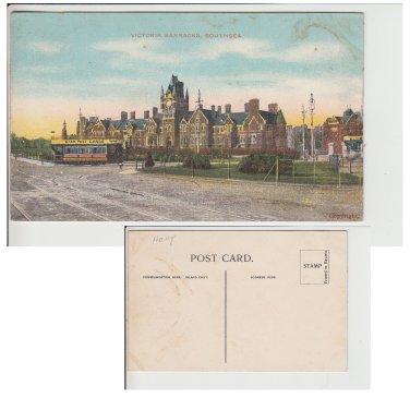 Hampshire   Postcard Victoria Barracks Southsea. Mauritron #156