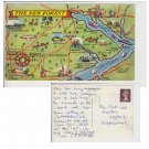 Hampshire   Postcard The New Forest Map. Mauritron #161