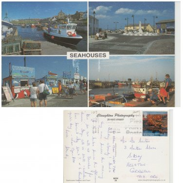 Northumberland Postcard Seahouses Multiview. Mauritron #183