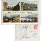 Cumbria Postcard Greetings from Keswick Multiview. Mauritron #199