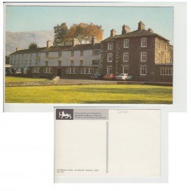 Cumbria Postcard Patterdale Hotel Ullswater. Mauritron #203
